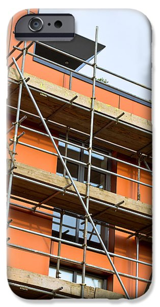 Workplace iPhone Cases - Scaffolding iPhone Case by Tom Gowanlock