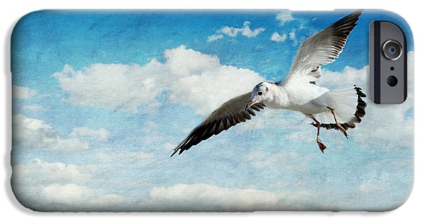 Seagull Mixed Media iPhone Cases - Seagull iPhone Case by Heike Hultsch
