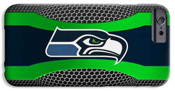 Shoe iPhone Cases - Seattle Seahawks iPhone Case by Joe Hamilton