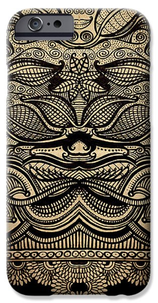 Detail Drawings iPhone Cases - Sharpie on Cardboard iPhone Case by HD Connelly