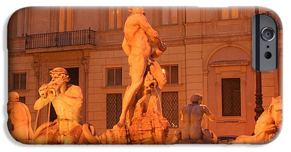 Concept iPhone Cases - Statues at a fountain iPhone Case by Celso Diniz