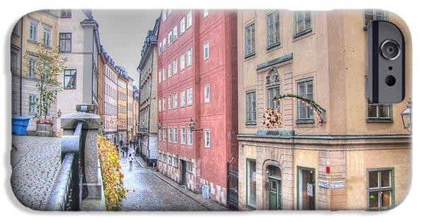 Swiss Pyrography iPhone Cases - Stokholm  Swiss iPhone Case by Yury Bashkin