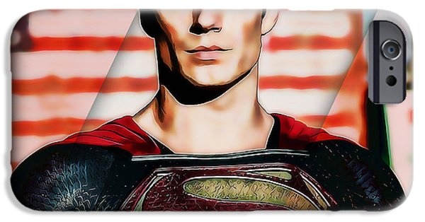 Comic iPhone Cases - Superman iPhone Case by Marvin Blaine