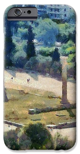 Temple of Olympian Zeus  iPhone Case by George Atsametakis