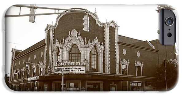 Indiana Scenes iPhone Cases - Terre Haute - Indiana Theater iPhone Case by Frank Romeo