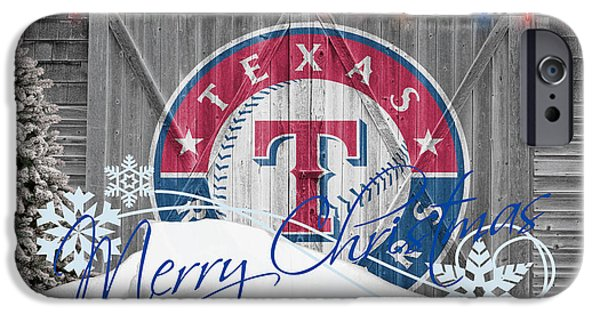 Mlb iPhone Cases - Texas Rangers iPhone Case by Joe Hamilton
