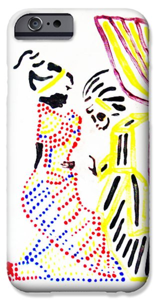 Contemporary Ceramics iPhone Cases - The Annunciation iPhone Case by Gloria Ssali
