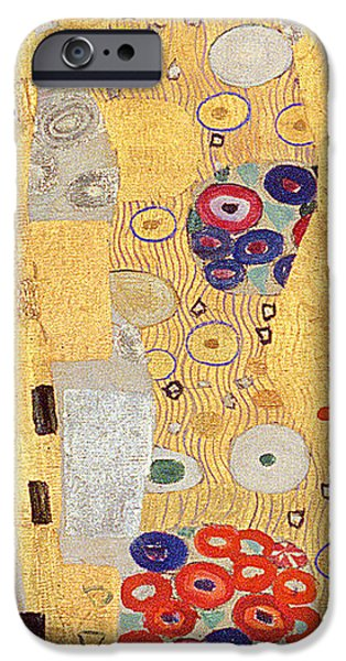 Austria iPhone Cases - The Kiss iPhone Case by Gustav Klimt