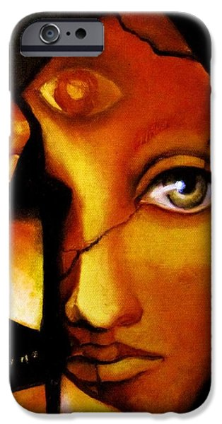 Mystic Art iPhone Cases - The Seeker iPhone Case by Dalgis Edelson