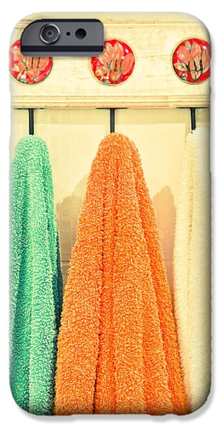 Bathroom iPhone Cases - Towels iPhone Case by Tom Gowanlock