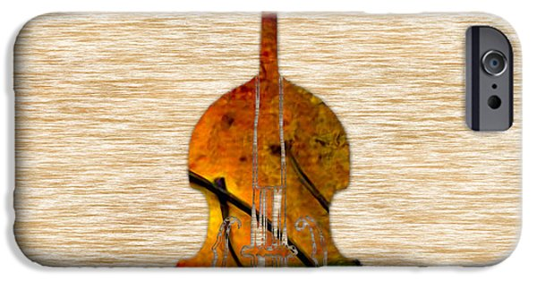 Upright Bass iPhone Cases - Upright Bass iPhone Case by Marvin Blaine