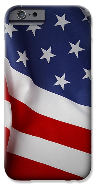 USA flag iPhone Case by Les Cunliffe