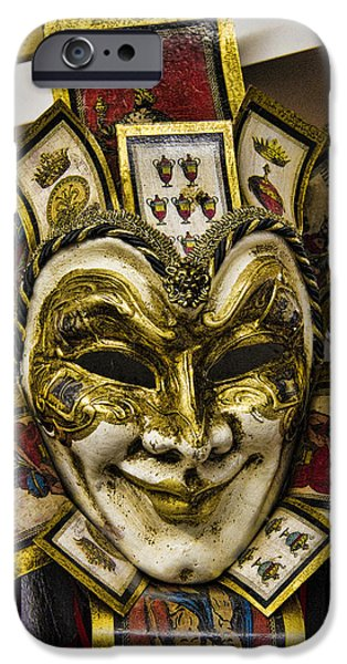 Artisan iPhone Cases - Venetian Carnaval Mask iPhone Case by David Smith