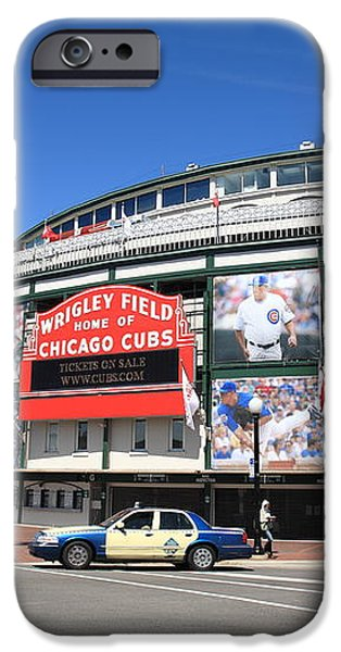 Wrigley Field - Chicago Cubs  iPhone Case by Frank Romeo