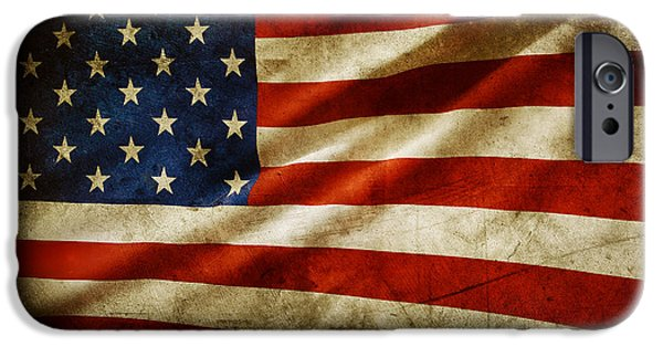 Flag iPhone Cases - American flag iPhone Case by Les Cunliffe
