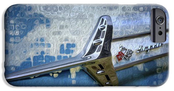Airbrush iPhone Cases - 60 Chevy Impala Sidetrim iPhone Case by Jack Zulli