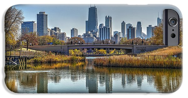 Sears Tower iPhone Cases - Chicago Skyline reflection iPhone Case by Patrick  Warneka