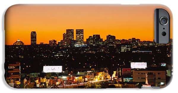 Miracle Photographs iPhone Cases - High Angle View Of Buildings In A City iPhone Case by Panoramic Images