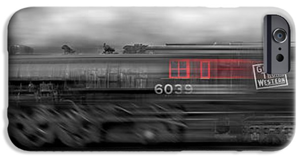 The Horse iPhone Cases - 6339 On the Move Panoramic iPhone Case by Mike McGlothlen