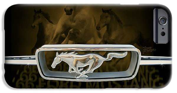 Iconic Mixed Media iPhone Cases - 66 Ford Mustang iPhone Case by Doug Kreuger
