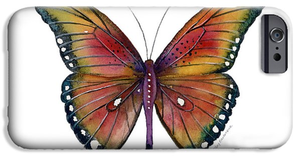 Butterfly iPhone Cases - 66 Spotted Wing Butterfly iPhone Case by Amy Kirkpatrick