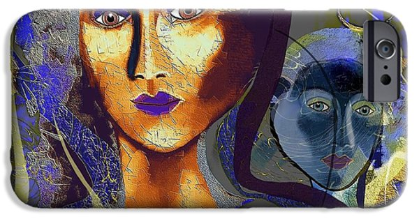 Ego iPhone Cases - 665 - Alter Ego iPhone Case by Irmgard Schoendorf Welch