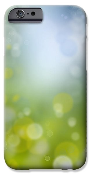 Futuristic iPhone Cases - Abstract background iPhone Case by Les Cunliffe
