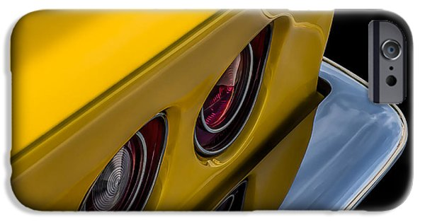 Sting Ray iPhone Cases - 69 Corvette Tail Lights iPhone Case by Douglas Pittman