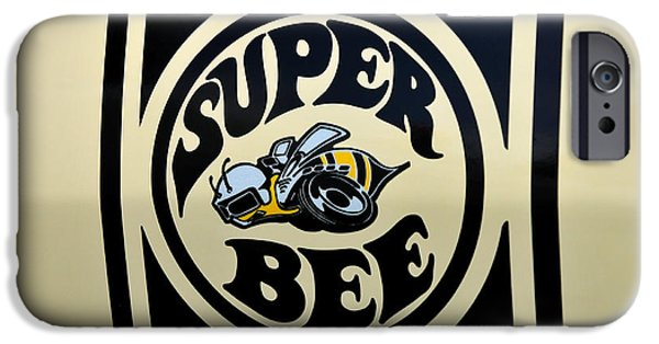 Super Bee iPhone Cases - 69 Dodge Super Bee iPhone Case by Thomas Schoeller