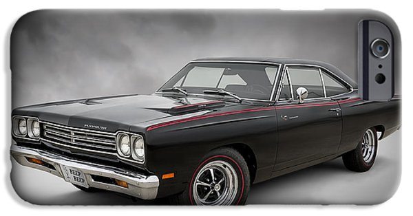 Plymouth iPhone Cases - 69 Roadrunner iPhone Case by Douglas Pittman