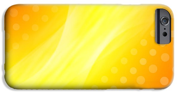 Yellow Abstracts iPhone Cases - Abstract  iPhone Case by Les Cunliffe