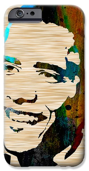Barack Obama iPhone Case by Marvin Blaine