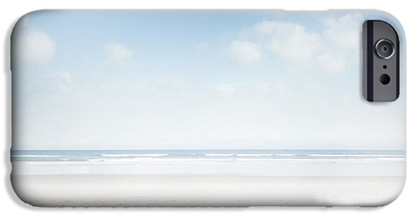 Beach Landscape iPhone Cases - Beach iPhone Case by Les Cunliffe