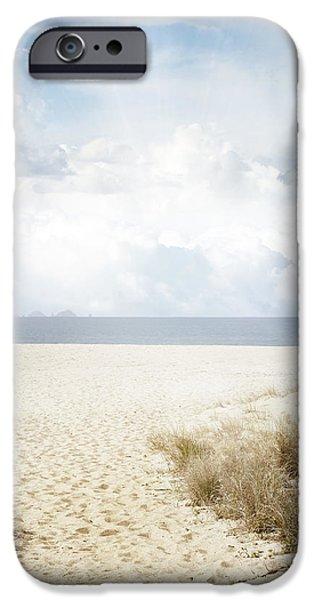 Beach Landscape iPhone Cases - Beach trail iPhone Case by Les Cunliffe