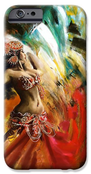 Moroccan iPhone Cases - Abstract Belly Dancer 19 iPhone Case by Corporate Art Task Force