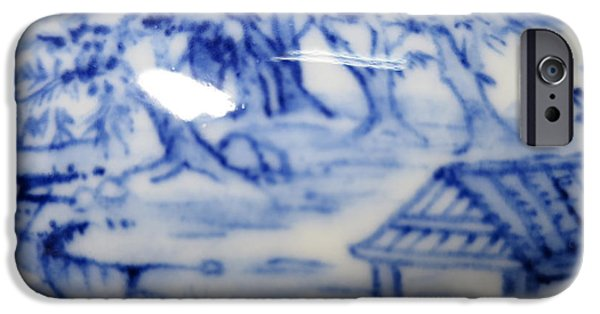 Blue And White Porcelain iPhone Cases - Blue And White Porcelain iPhone Case by Champion Chiang