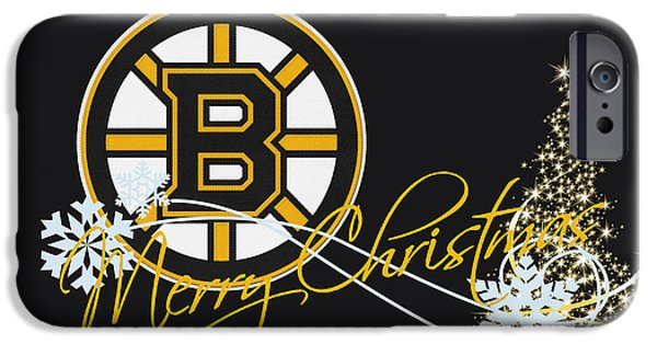 Arena iPhone Cases - Boston Bruins iPhone Case by Joe Hamilton