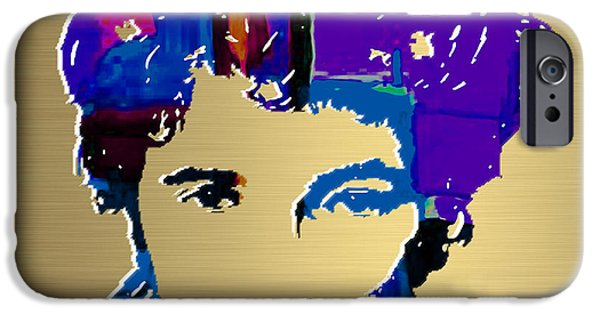 E Street Band iPhone Cases - Bruce Springsteen Gold Series iPhone Case by Marvin Blaine