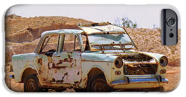 Cars Pyrography iPhone Cases - Old Car iPhone Case by Girish J