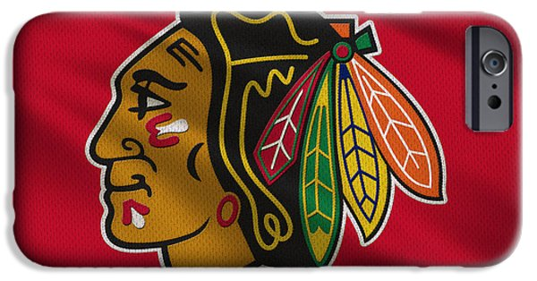 Arena iPhone Cases - Chicago Blackhawks Uniform iPhone Case by Joe Hamilton