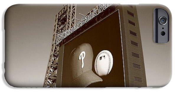Baseball Stadiums iPhone Cases - Citizens Bank Park - Philadelphia Phillies iPhone Case by Frank Romeo