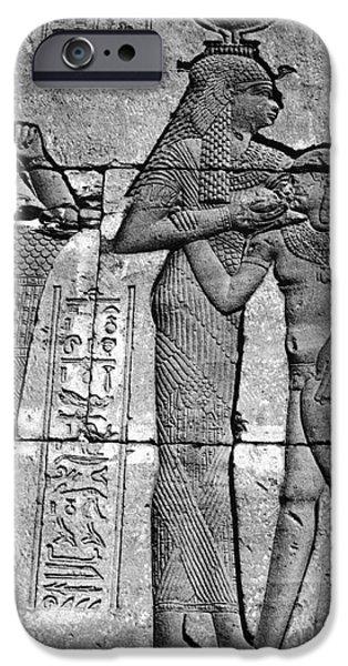 Hathor iPhone Cases - Cleopatra Vii (69-30 B.c.) iPhone Case by Granger