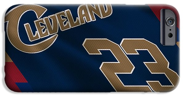 Lebron iPhone Cases - Cleveland Cavaliers Uniform iPhone Case by Joe Hamilton