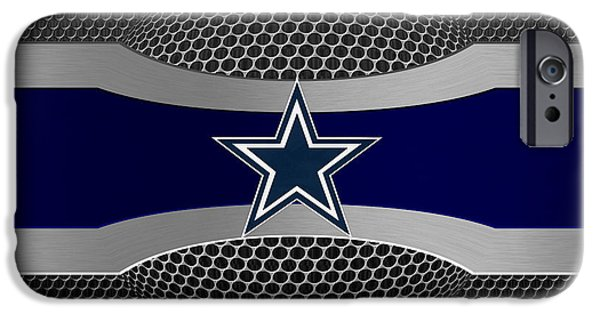 Shoe iPhone Cases - Dallas Cowboys iPhone Case by Joe Hamilton