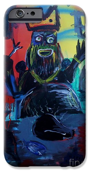 Jay Z Paintings iPhone Cases - 7 Deadly Sins iPhone Case by Chris Carter