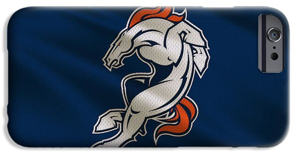 Broncos. Denver Broncos iPhone Cases - Denver Broncos Uniform iPhone Case by Joe Hamilton