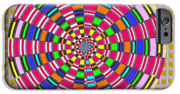 Disc iPhone Cases - Focus Target Yoga Mat Chakra Meditation Round Circles Roulette Game Casino flying carpet energy mand iPhone Case by Navin Joshi