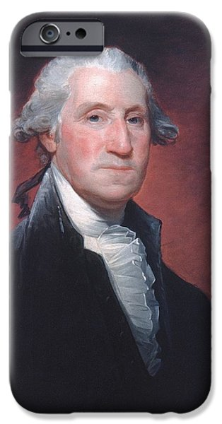 Independence Day Paintings iPhone Cases - George Washington iPhone Case by Gilbert Stuart