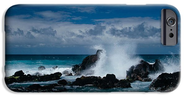 Papa iPhone Cases - Hookipa Maui North Shore Hawaii iPhone Case by Sharon Mau