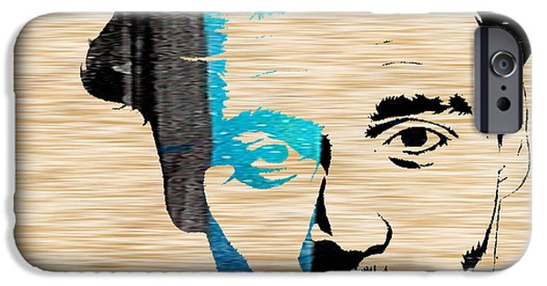 Alice In Wonderland Mixed Media iPhone Cases - Johnny Depp iPhone Case by Marvin Blaine
